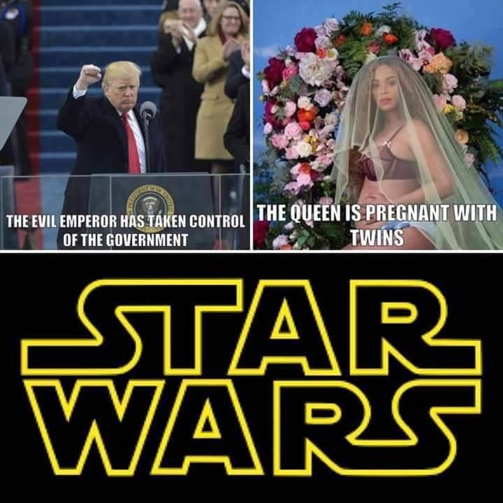 star wars donald trump beyonce embarazada de gemelos
