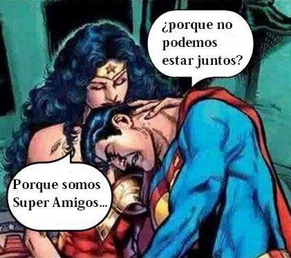Superman a Wonder Woman: ¿Por qué no podemos estar juntos?