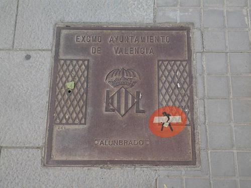Tapa de alcantarilla en Valencia