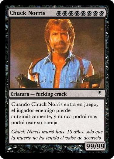 Tarjeta de Chuck Norris