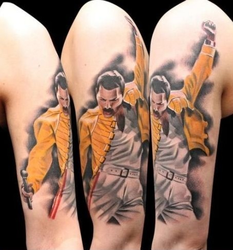 Tatuaje Freddie Mercury - Made in heaven
