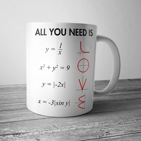 taza all you need is love con ecuaciones