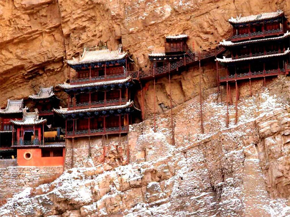 Templo colgante Xuan Kong Si (Datong, China)