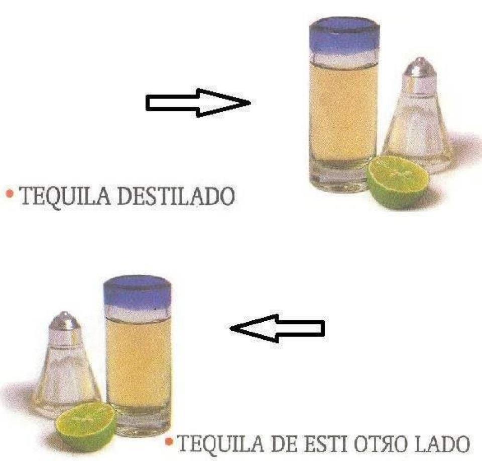 Tequila destilado y tequila de esti otro lado
