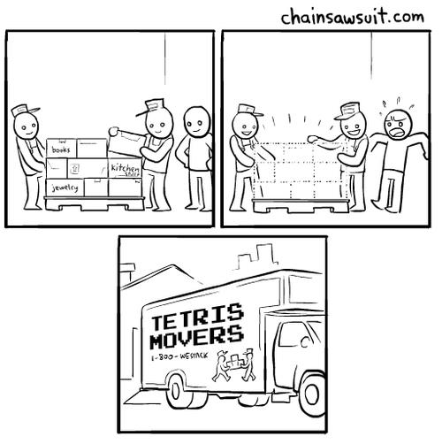 Tetris movers
