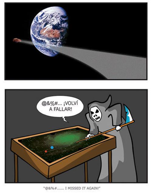 La Muerte jugando al billar