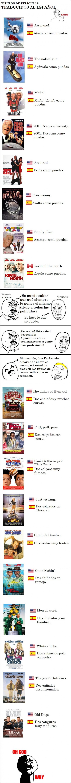 Acerca de la traducción al español de títulos de películas yankis...