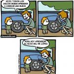 Todos los chicos deben aprender a cambiar una rueda