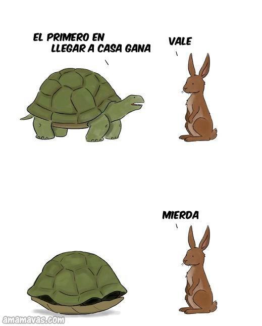 Carrera entre tortuga y liebre