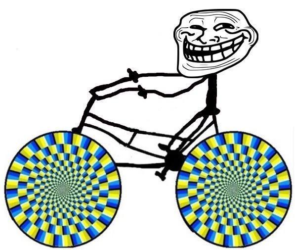 Ilusión óptica - Ruedas que se mueven