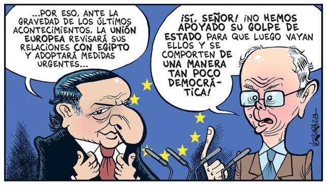 La Unión Europea indignada con Egipto