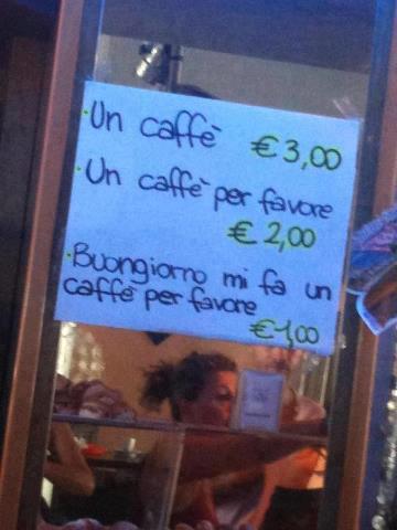 Un café, por favor