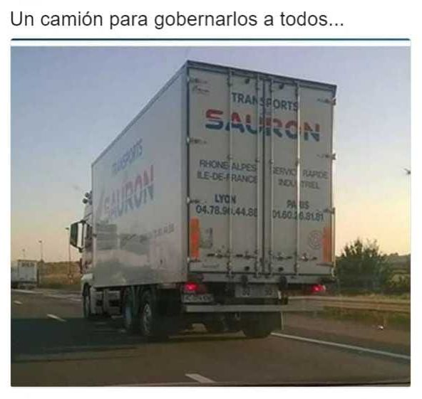 un camion para gobernarlos a todos sauron