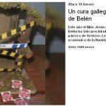 Un cura gallego precinta el portal de Belén
