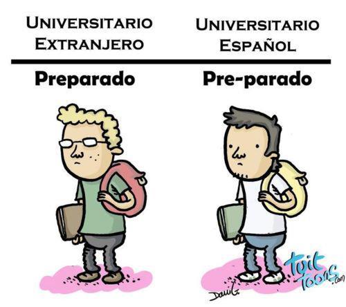 Diferencias entre universitarios españoles y extranjeros