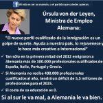 Ursula Von der Leyen (ministra de Trabajo en Alemania), sobre la inmigración