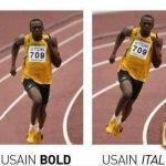 Usain Bold – Usain Italic