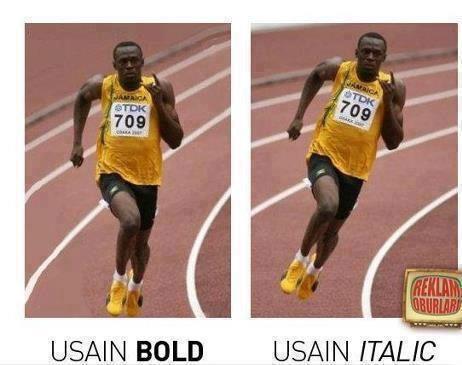 Usain Bold - Usain Italic