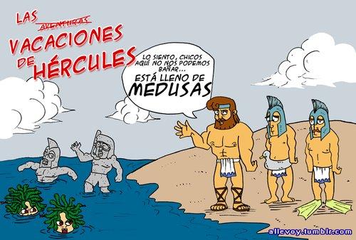 Hércules de vacaciones en la playa