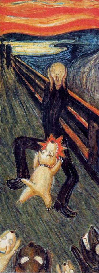 El grito (versión canina)