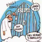 San Miguel llamando a la puerta del Cielo