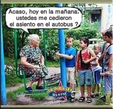 Zasca de la abuela a los niños