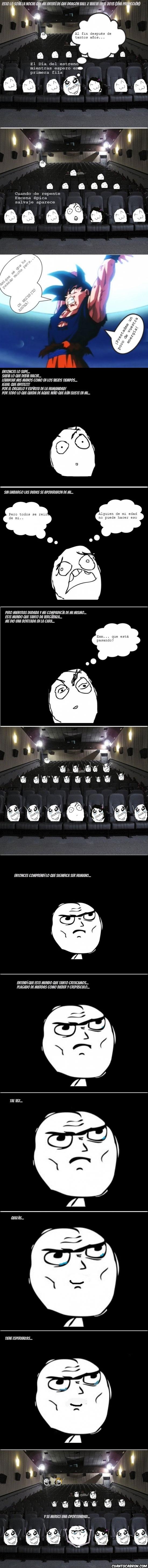 Viendo Dragon Ball en el cine