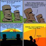 El dilema de las esculturas Moai