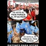 Razones para votar al PP y al PSOE