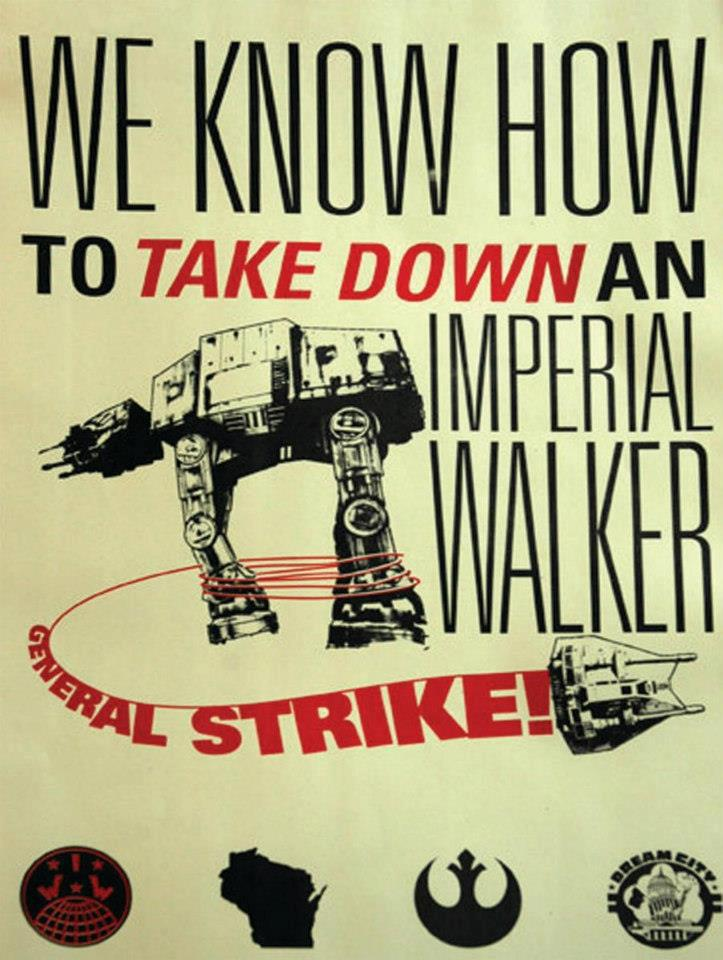 we know how to take down an imperial walker - general strike