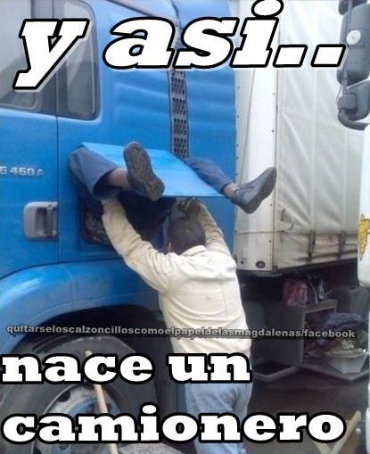 Y así nace un camionero