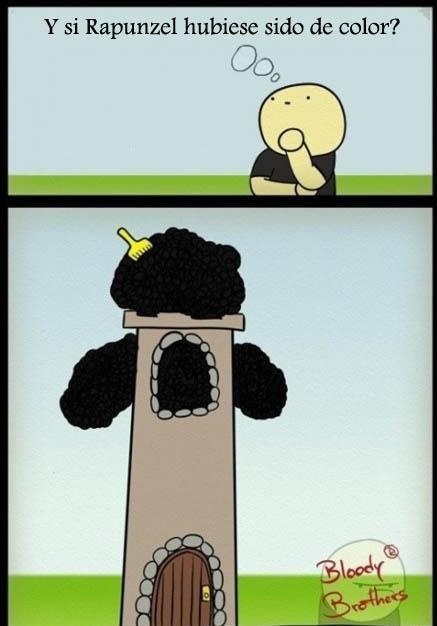 ¿Y si Rapunzel hubiese sido de color?