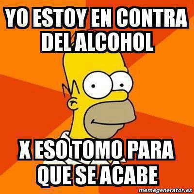 Homer Simpson, acerca del alcohol
