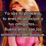 Yo soy tu princesa, tú eres mi príncipe y tus amiguitas…