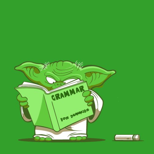 Yoda - Grammar for dummies