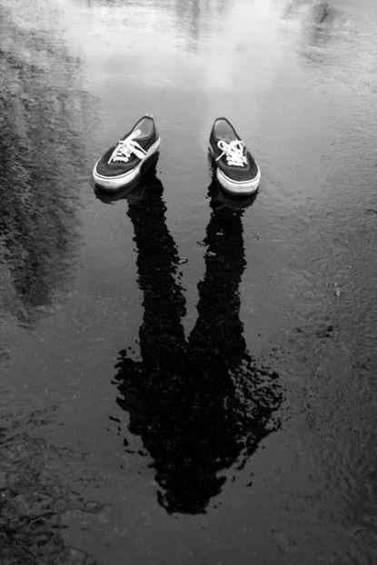 zapatillas y reflejo