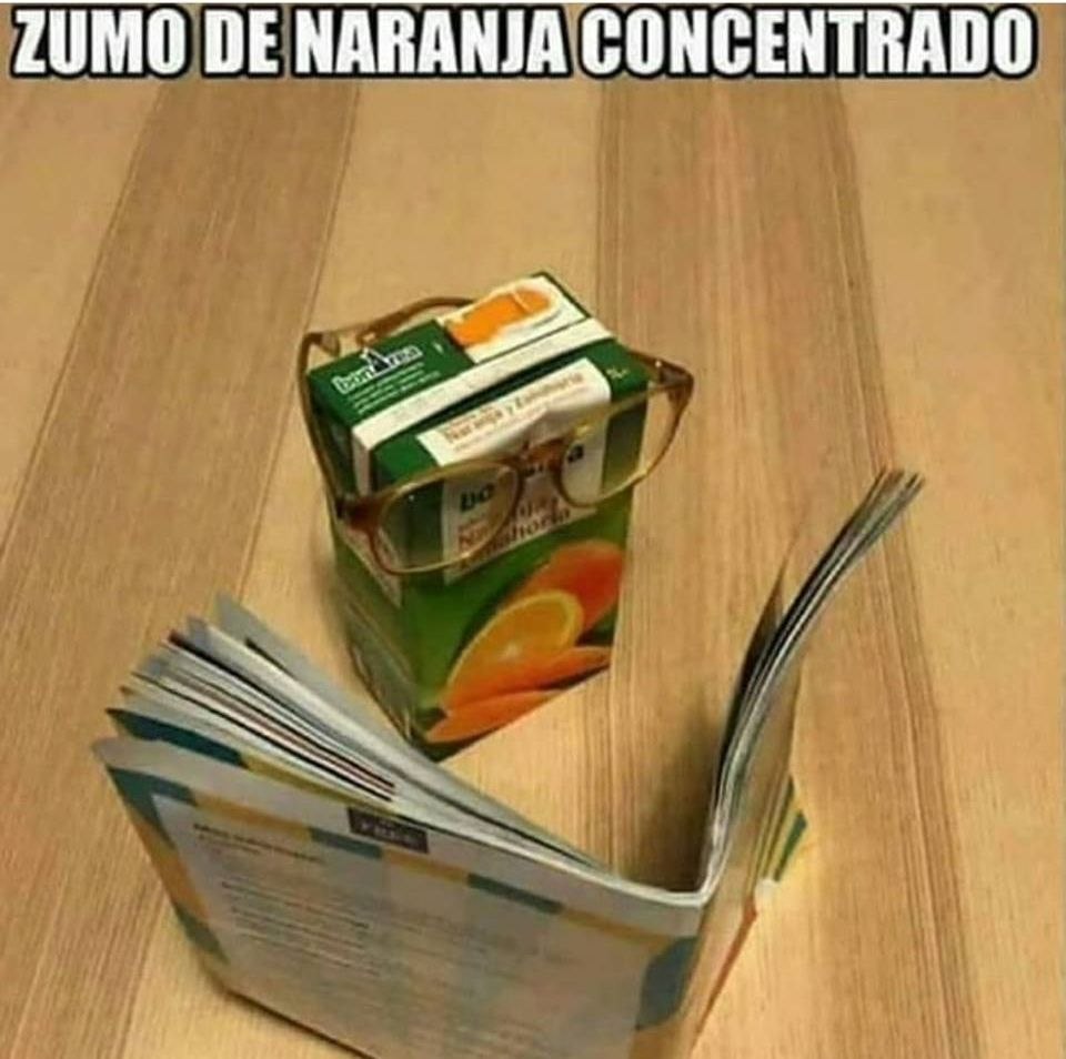 zumo de naranja concentrado
